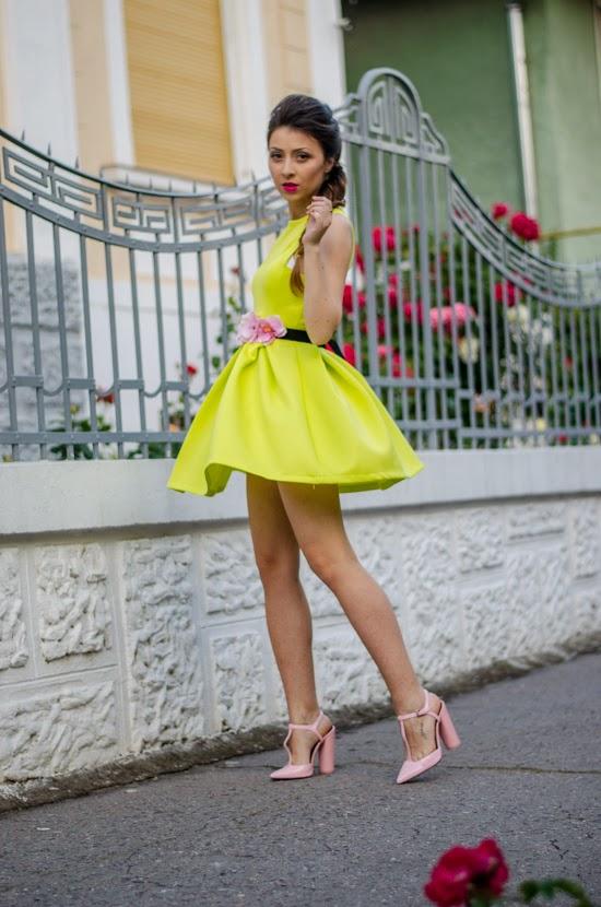 Baby pink dress zara