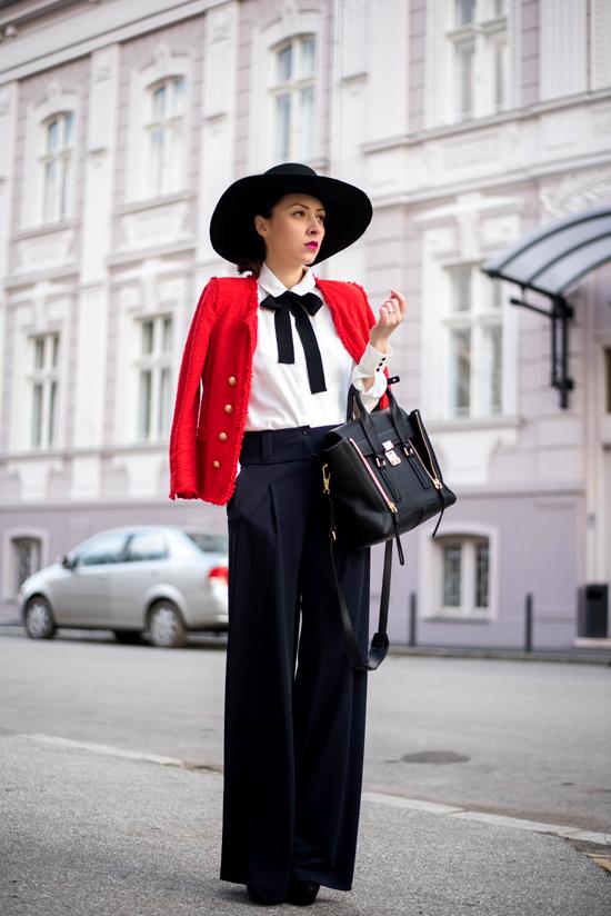 elegant look with pants