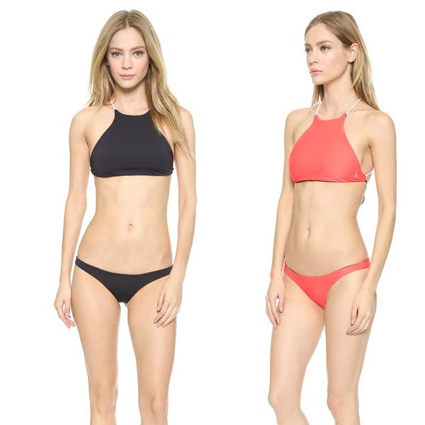 revesible red black bikini