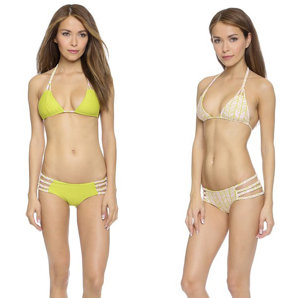 revesible neon beige bikini