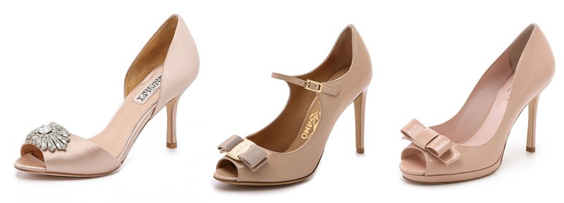 tan peep toe pumps shopbop