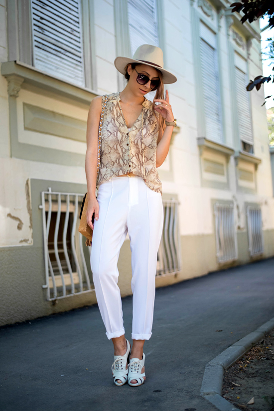 front row shop white pants