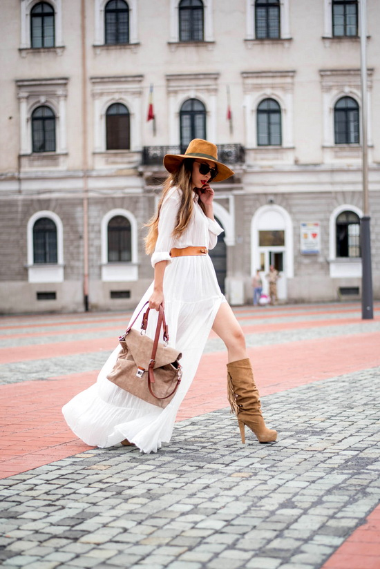 shein white maxi dress