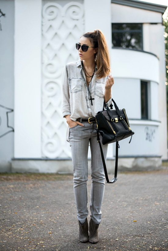 all denim outfit
