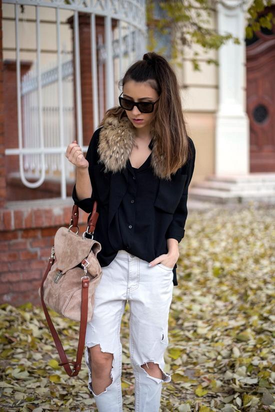 chicwish black shirt