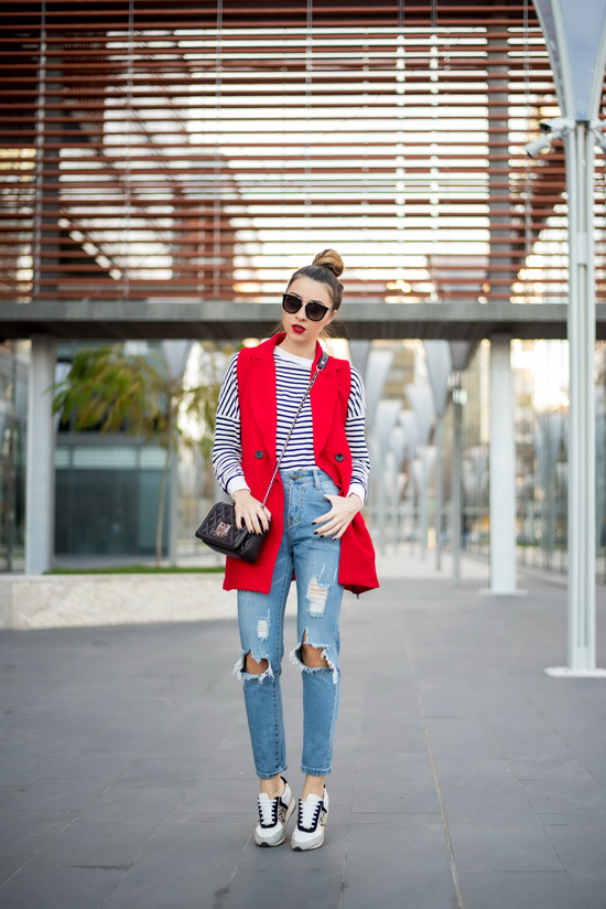 dressing down red items