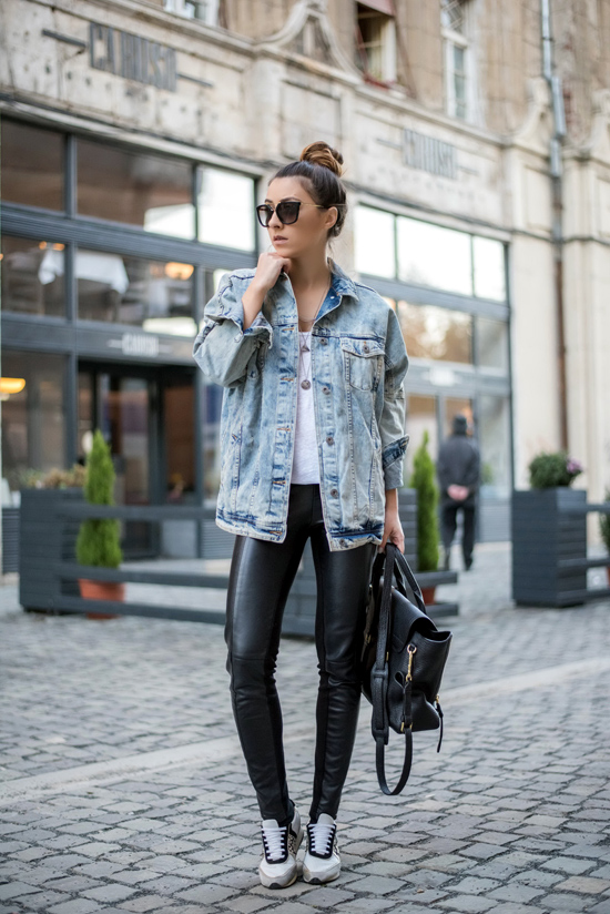 how to wear the denim jacket - Living in a shoe