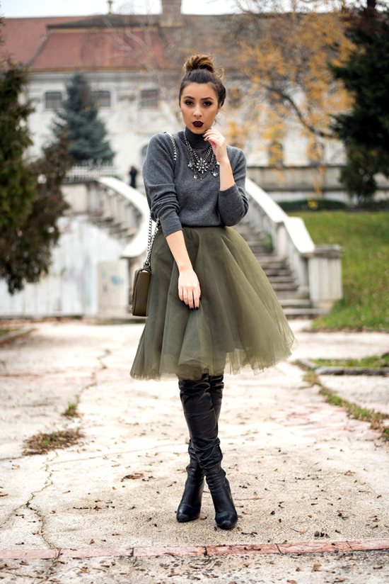 how to wear a tulle skirt in winter living in a shoe. Black Bedroom Furniture Sets. Home Design Ideas