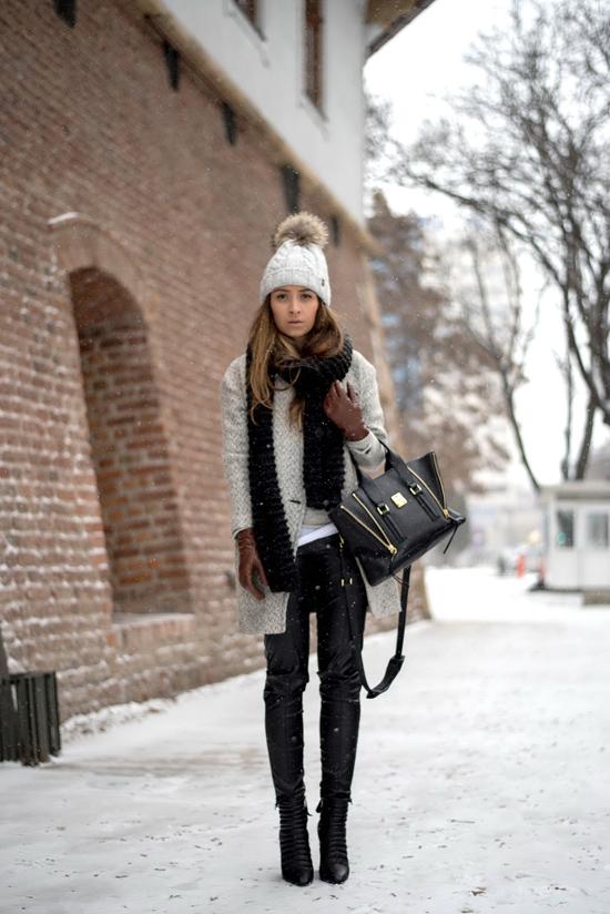 gray shein coat streetstyle