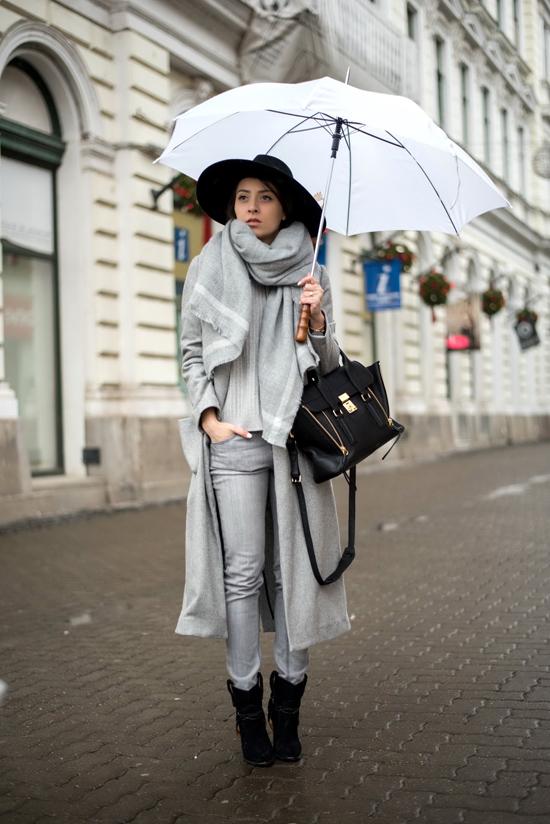 shein grey coat