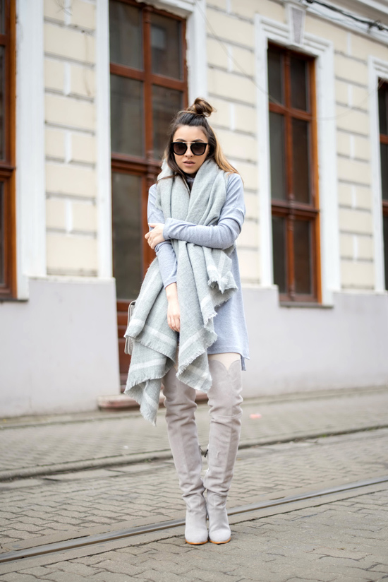 all gray outfit