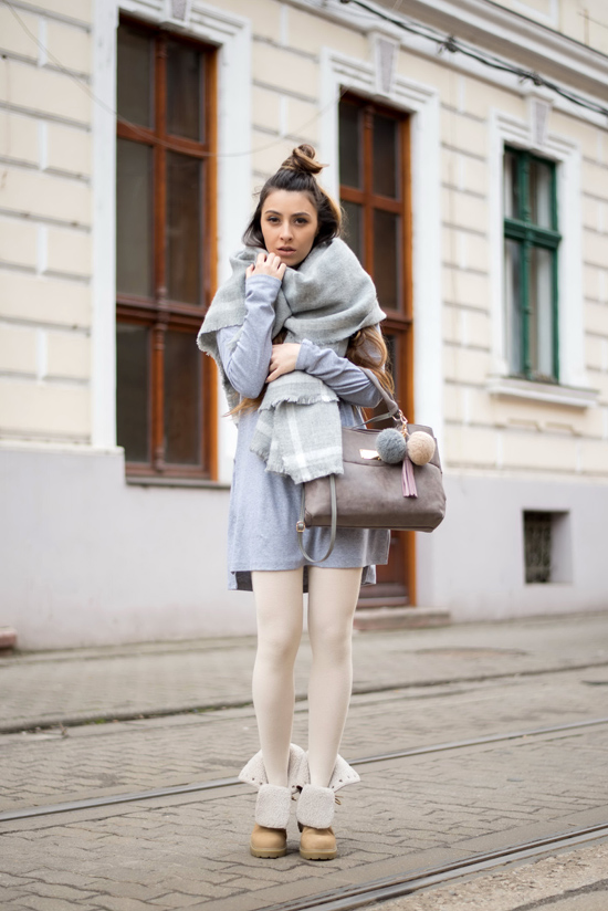 casual all gray outfit