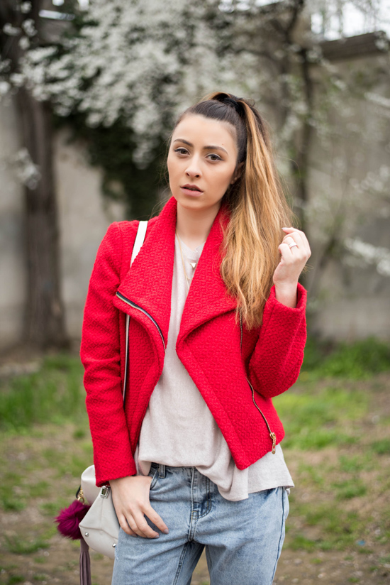 red shein jacket