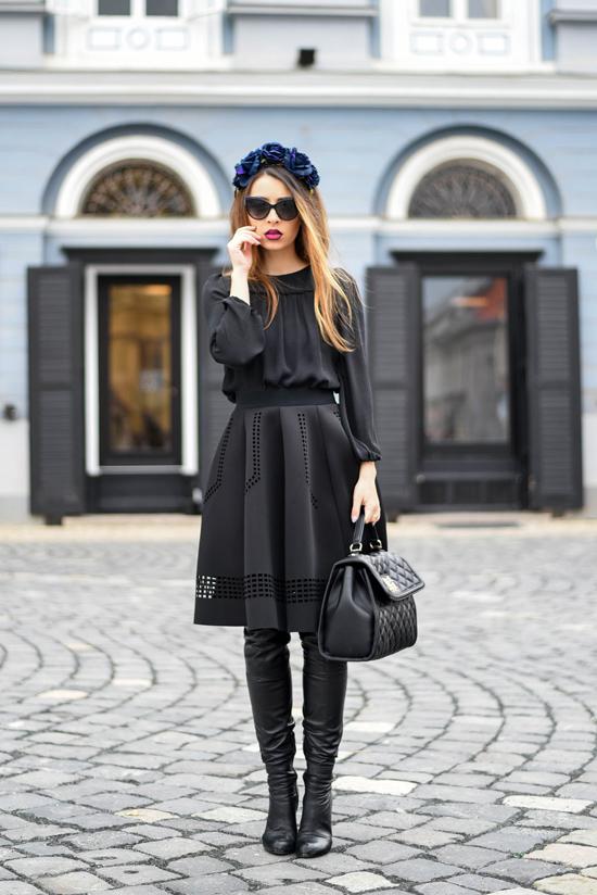 tinuta neagra eleganta