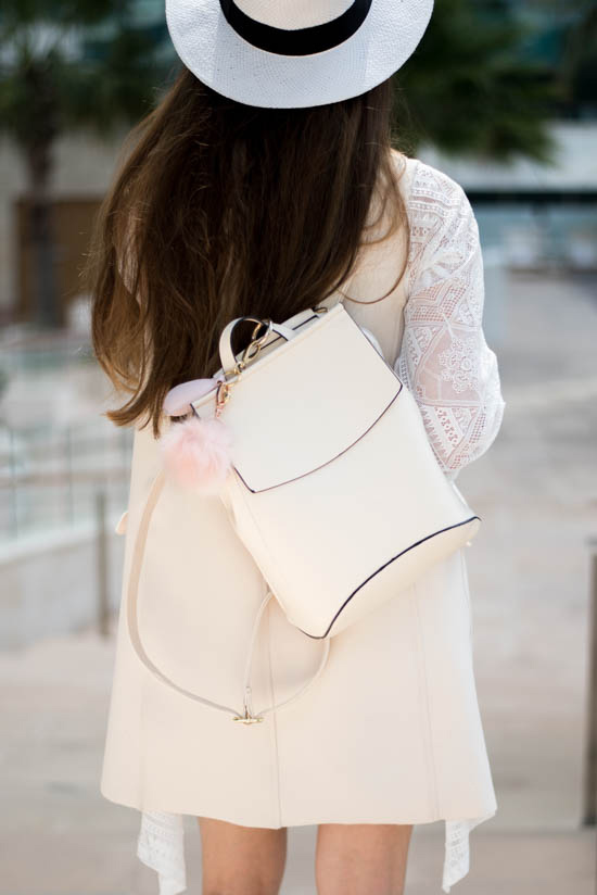 jessica buurman light beige backpack