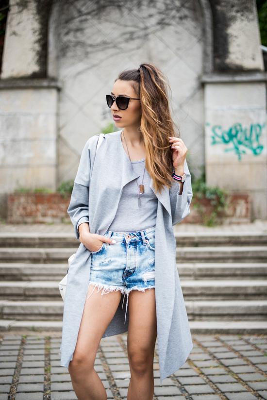 choies grey coat